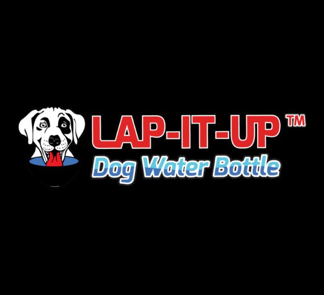 Logo - Lap-It-Up Dog Water Bottle
