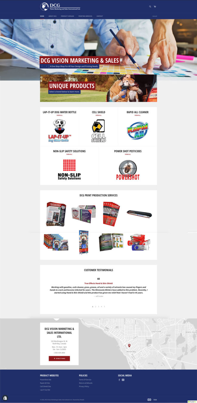DCG Vision Marketing & Sales International Ltd. eCommerce Website