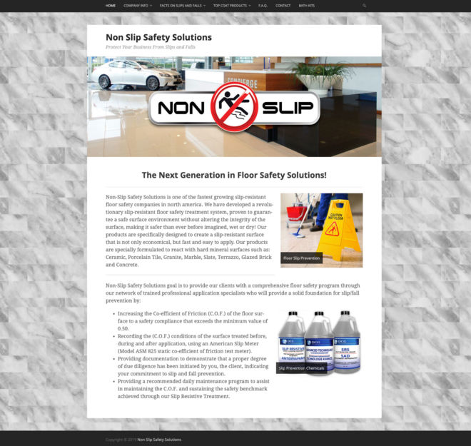 Non-Slip Safety Solutions Website