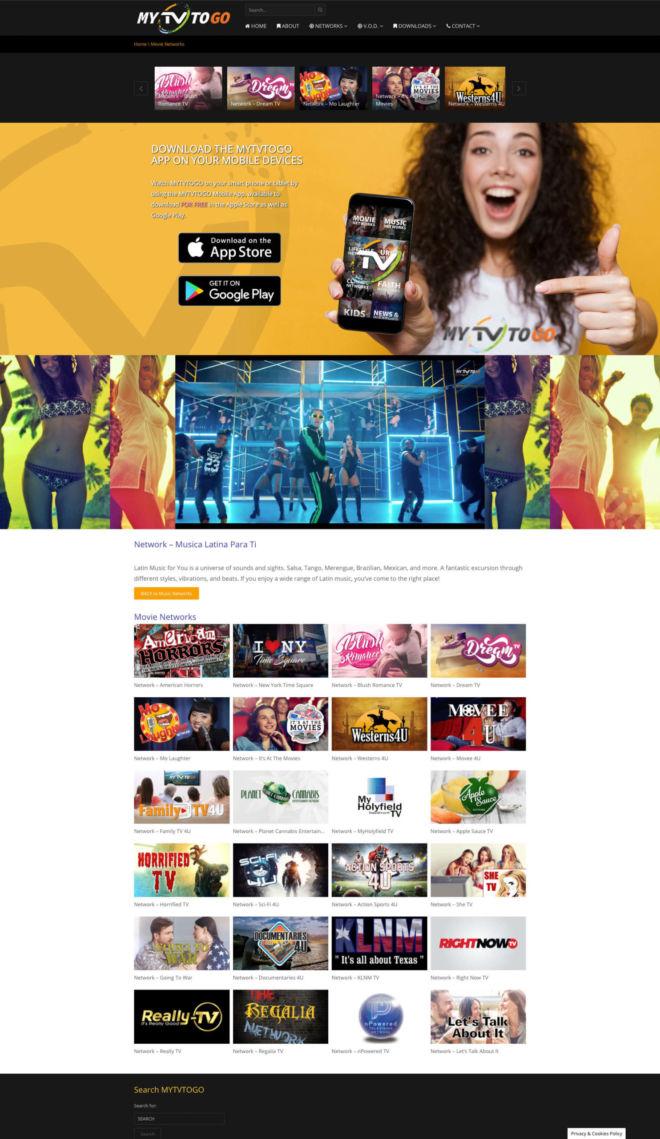 MYTVTOGO Website