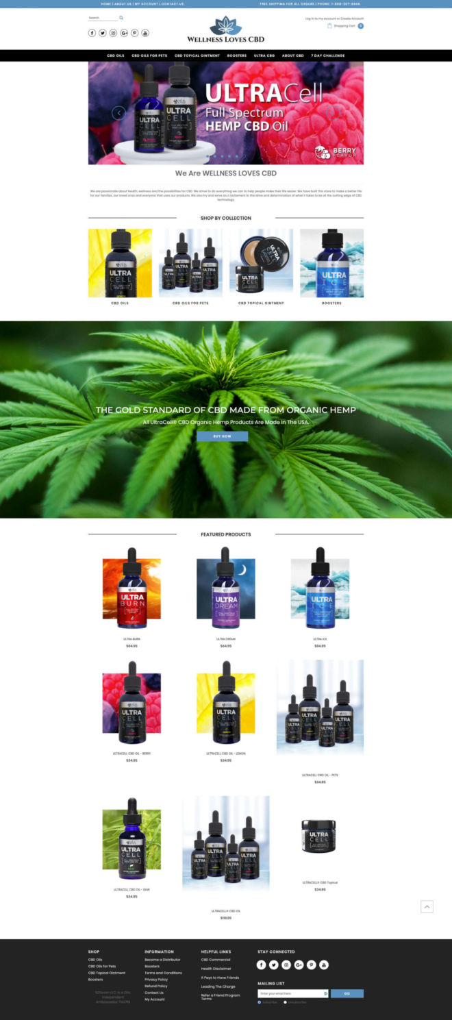 Wellness Loves CBD eCommerce Website