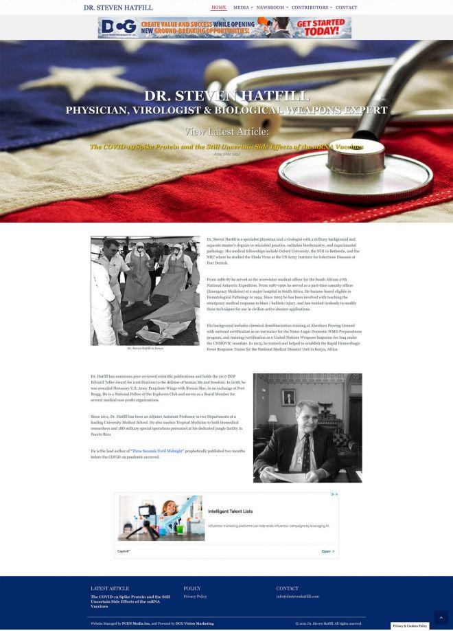 Dr. Steven Hatfill Website